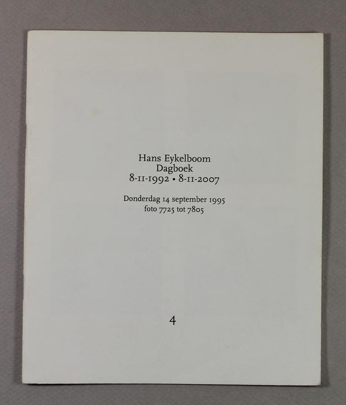 Dagboek/Diary : 8-11-1992 - 8-11-2007