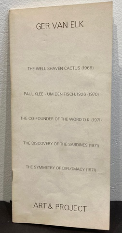 Art & Project Bulletin: The Well Shaven Cactus (1969), Paul Klee - Um Den Fisch, 1926 (1970), The Co-Founder of the World O.K. (1971), The Discovery of the Sardines (1971), The Symmetry of Diplomacy (1971)