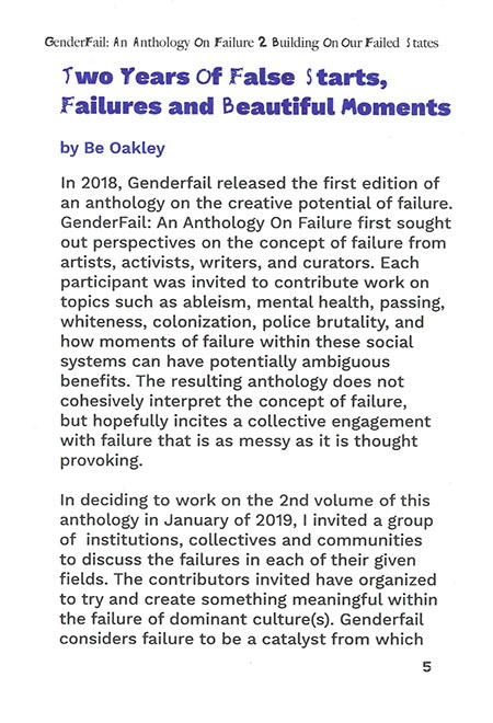 An Anthology on Failure, Vol. 2: Building on Our Failed States thumbnail 5