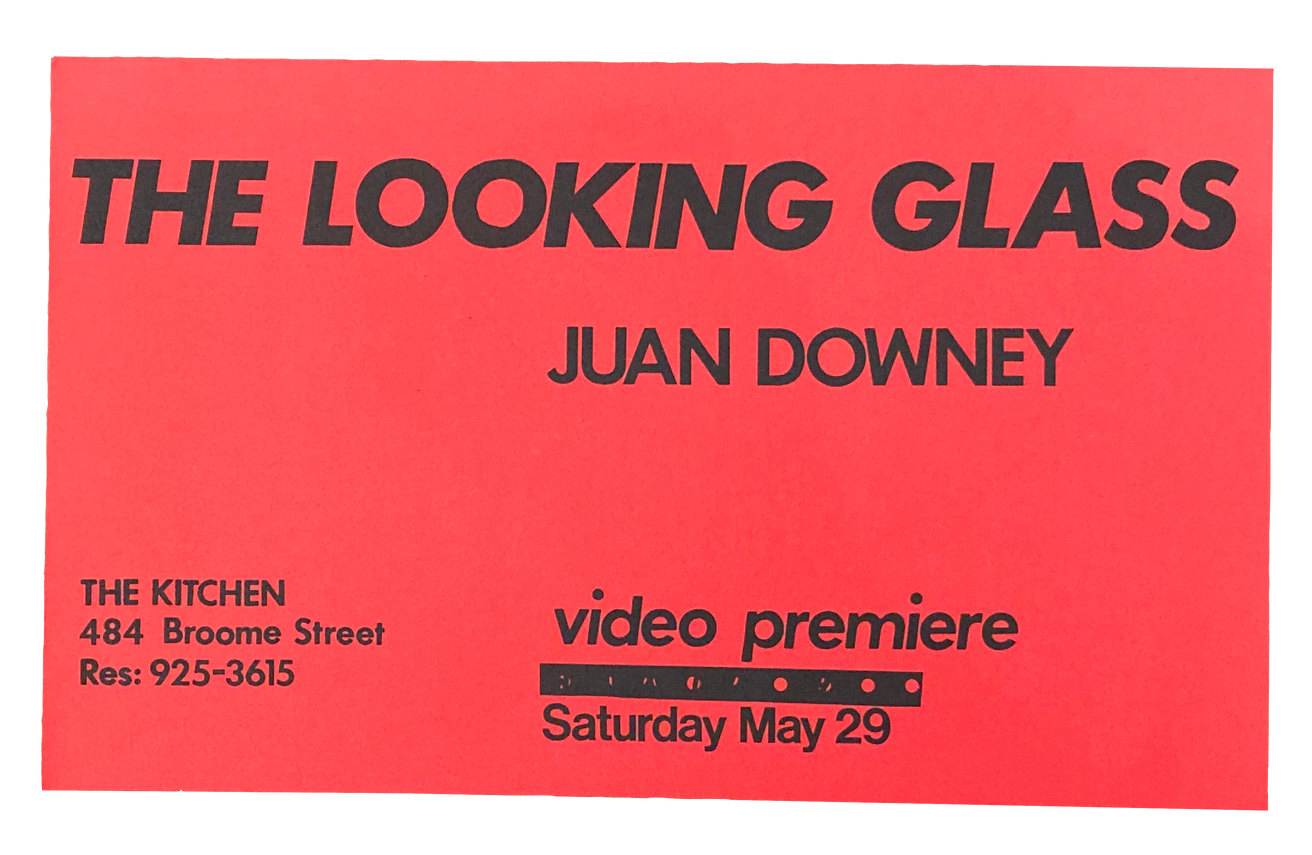 The Looking Glass Video Premiere, May 29, 1982 [The Kitchen Posters]