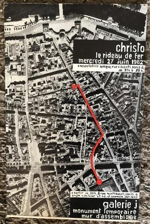Le rideau de fer, Galerie J, Paris, 27 juin 1962 [Card]