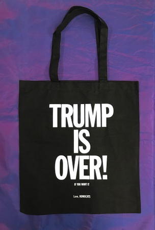 HOMOCATS: TRUMP IS OVER Tote [Black and White]