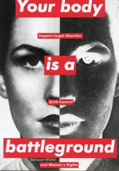 Untitled, 1989 [Your Body Is a Battleground] Postcard