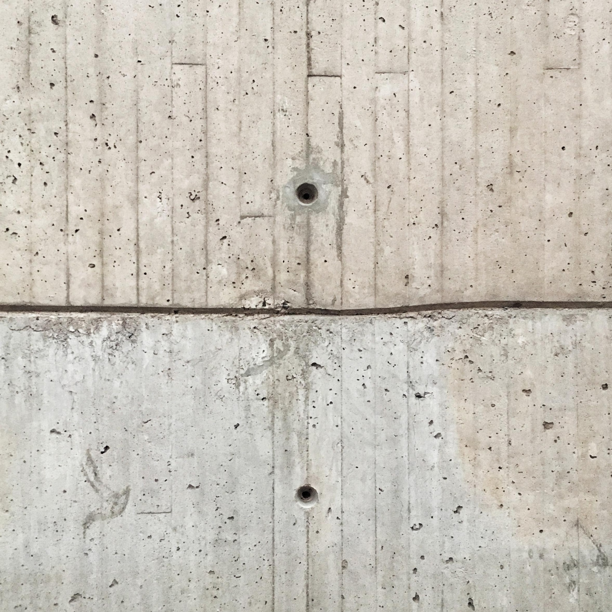 Detail of a concrete wall at the Yale Center for British Art