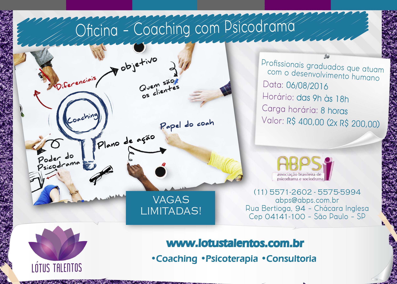 Coaching com Psicodrama para Psicólogos e Psicodramatistas