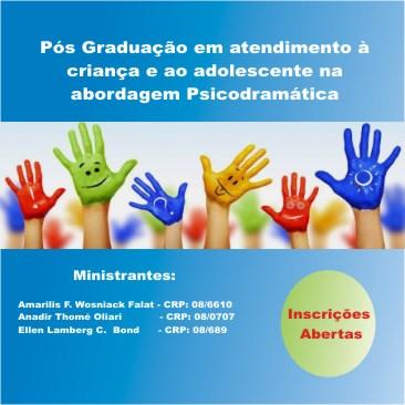 Pós Graduação em atendimento à criança e ao adolescente na abordagem Psicodramática