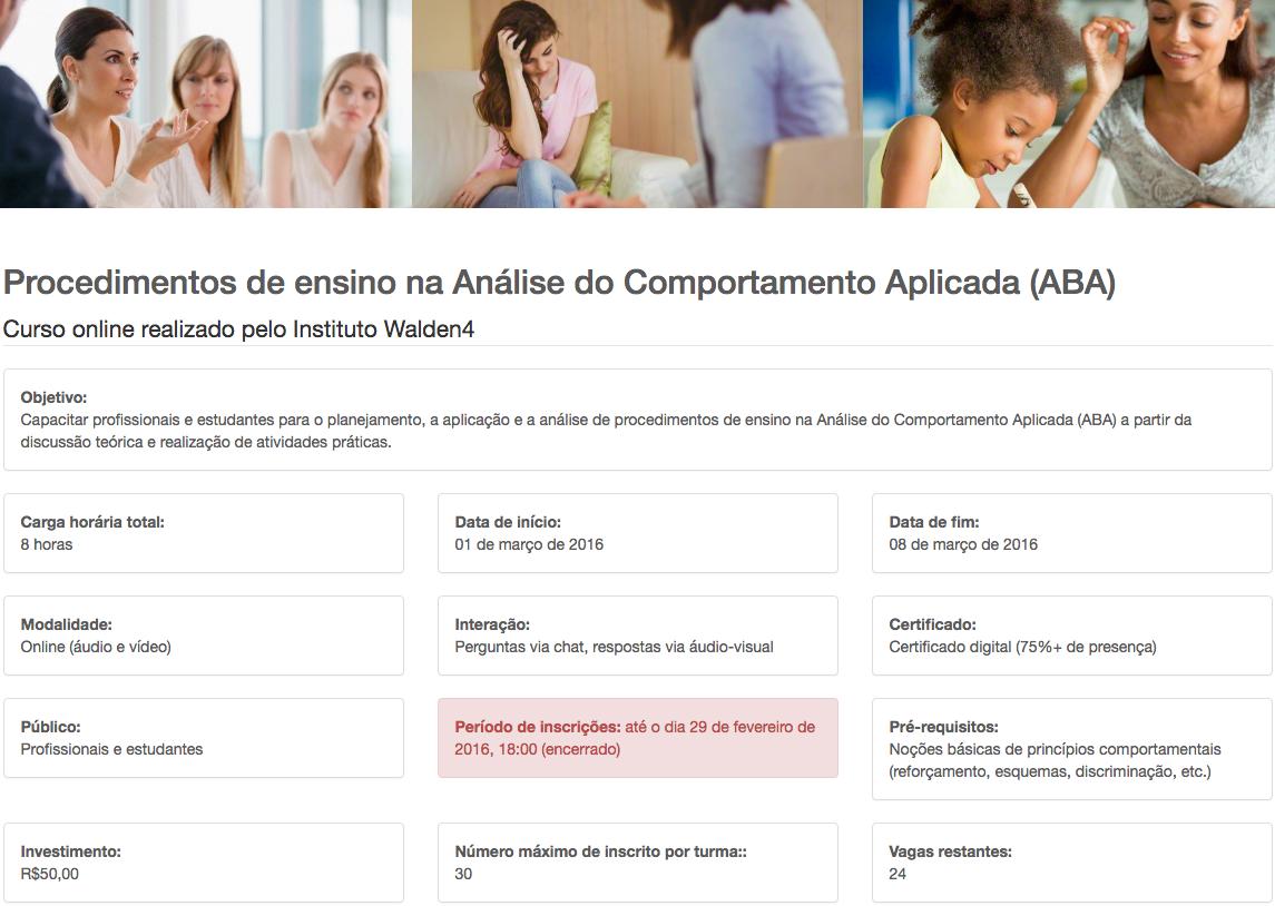 Procedimentos de ensino na Análise do Comportamento Aplicada (ABA)