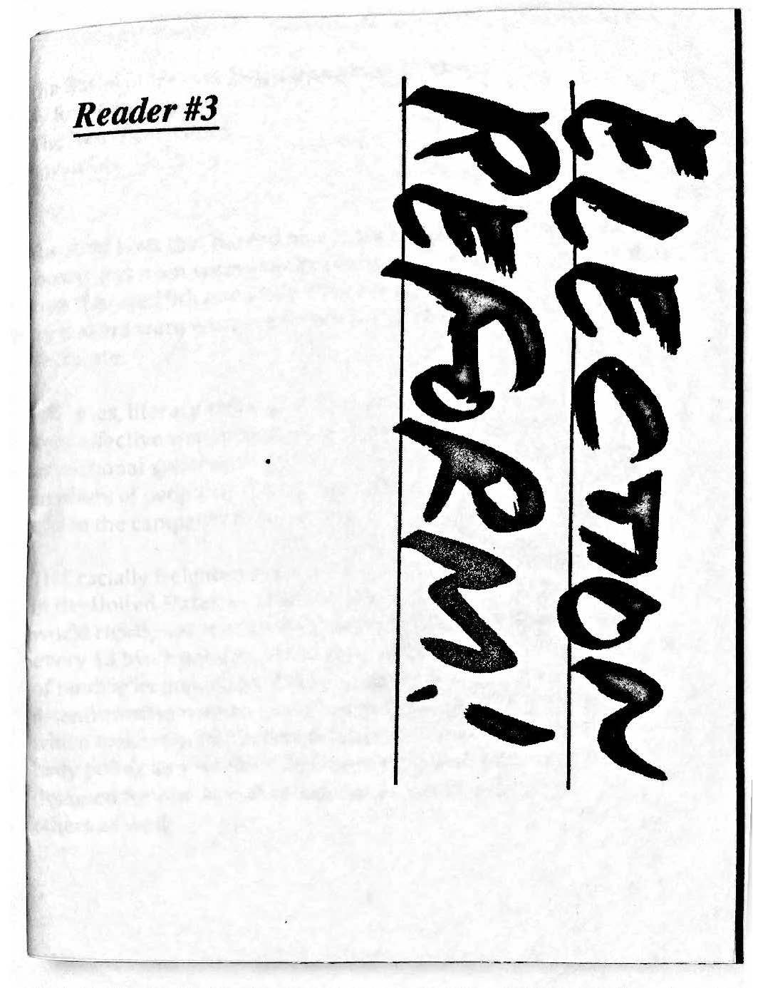 Election Reform zine