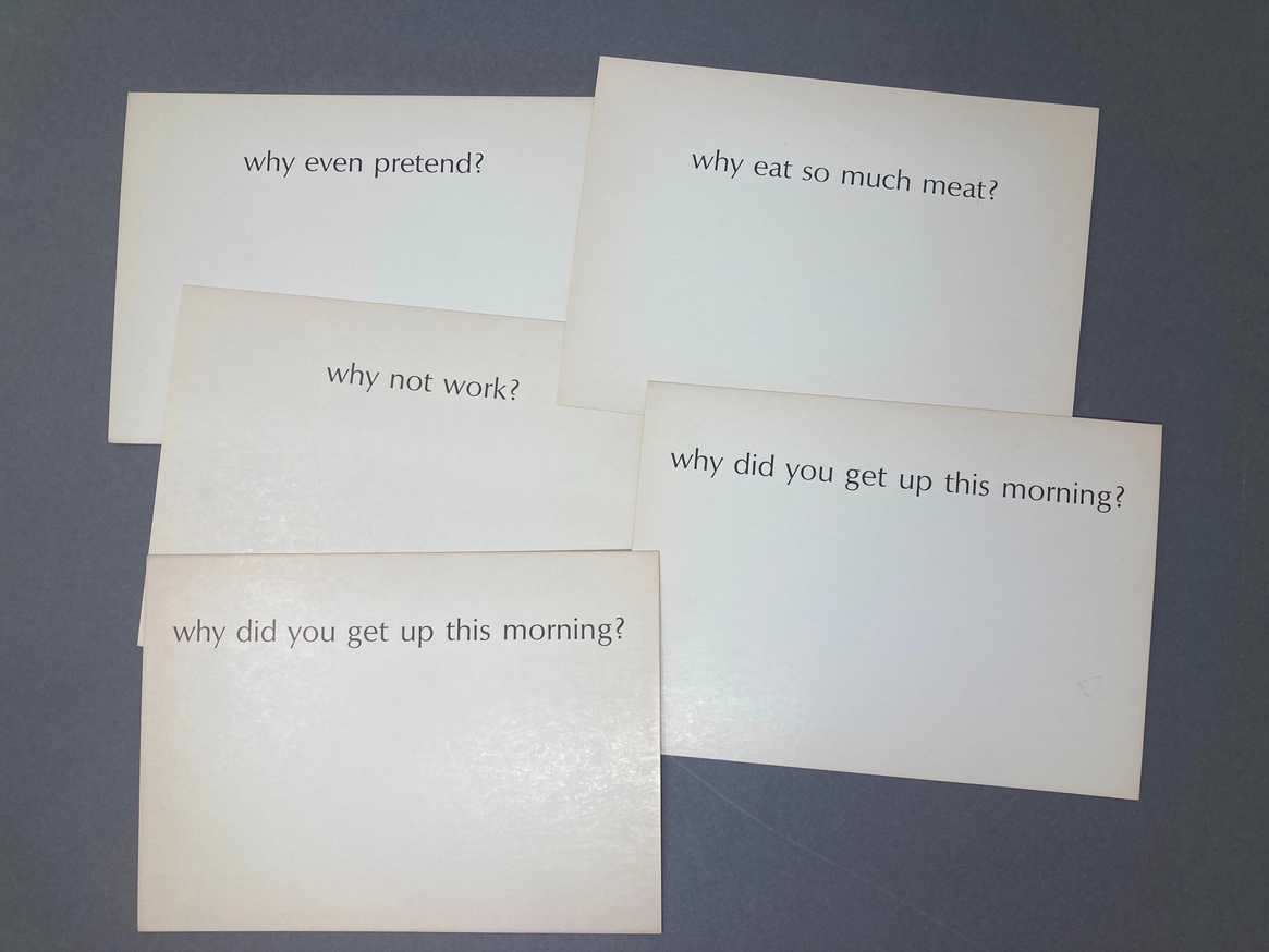 Ample Food for Stupid Thought: Why? (Set of 5 Random Cards) thumbnail 3