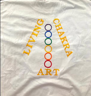 Living Chakra Art T-Shirt [White, large]