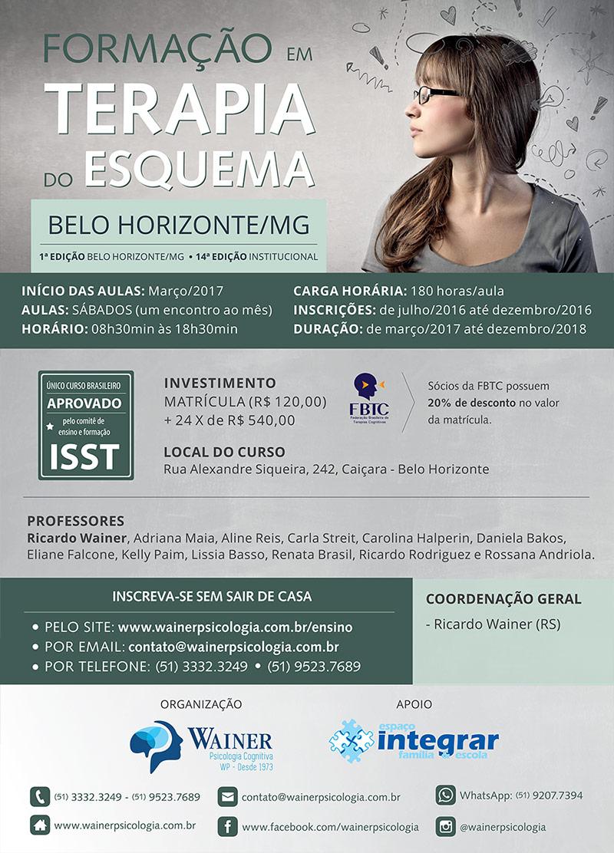 Curso de Formação em Terapia do Esquema - 1ª edição Belo Horizonte