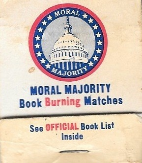 Moral Majority Book Burning Matches