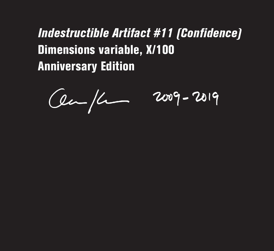Indestructible Artifact # 11: Confidence (Original, Black) [Small] thumbnail 3