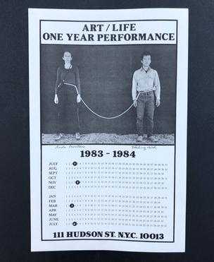 Art/Life One Year Performance Poster [Rope, unstamped]