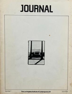 The Los Angeles Institute of Contemporary Art Journal