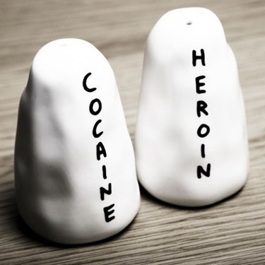 HEROIN / COCAINE Salt & Pepper Shakers