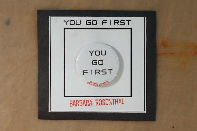 Button Pin Page: You Go First