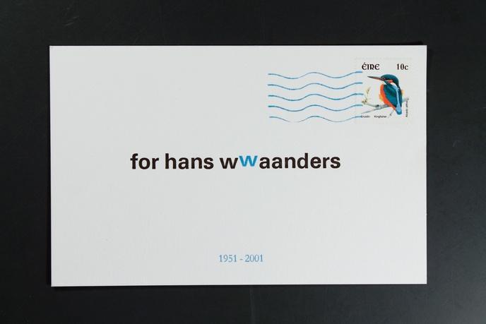 For Hans Waanders : 1951-2001