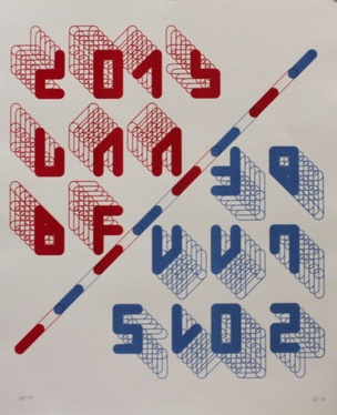 2015 LAABF Poster [Red/Blue]