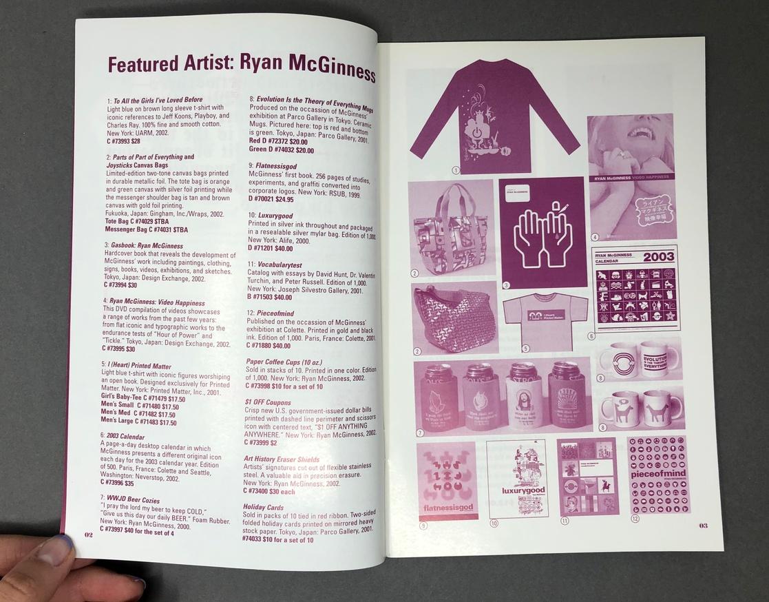 Printed Matter, Inc. Winter 2003 Catalog thumbnail 3