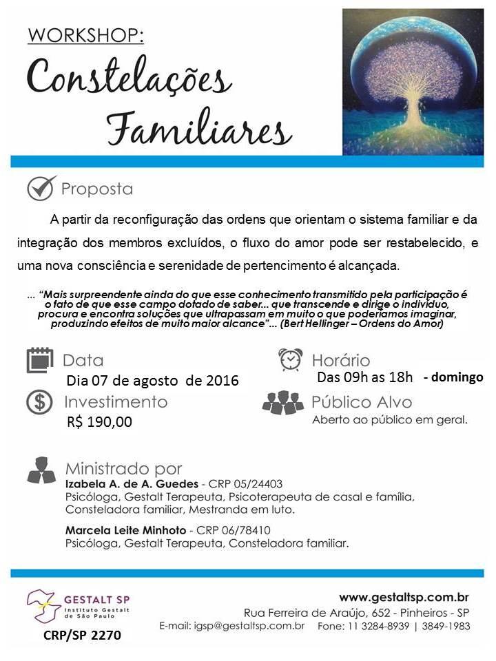 Workshop: Constelações Familiares