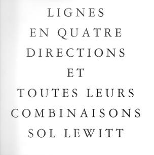 Lignes en Quatre Directions et Toutes Leurs Combinaisons