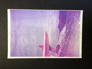 Untitled (Surfer): 2/C Violet and Pink
