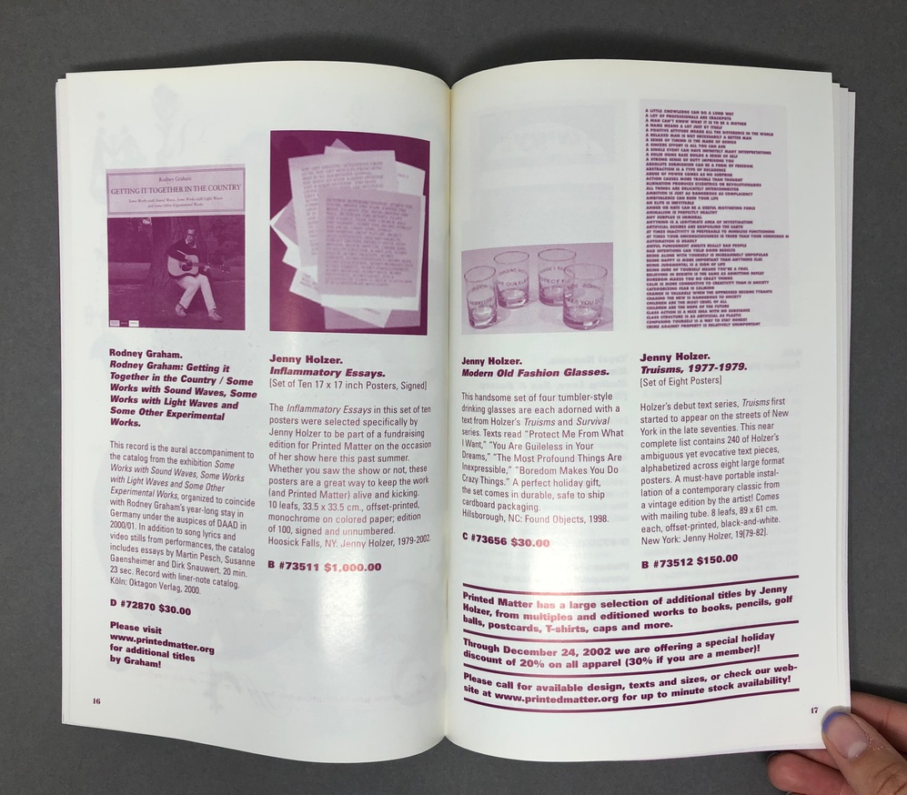 Printed Matter, Inc. Winter 2003 Catalog thumbnail 6