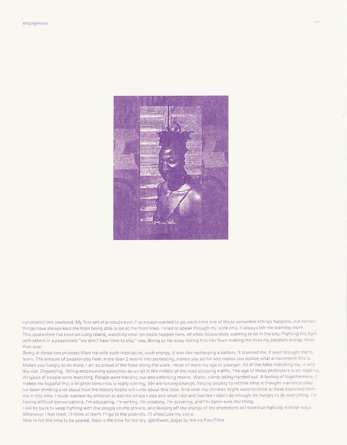 Prints of Protest: Boxed Set (Prints by Anaïs Duplan, Kameelah Janan Rasheed, Julian Louis Phillips, Tony Cokes, Neema Githere, and Erica Génécé) thumbnail 5